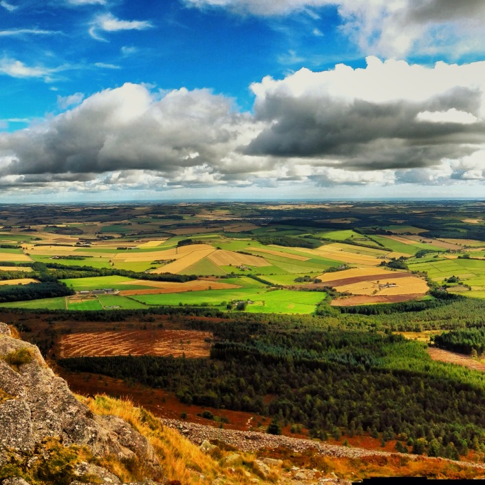 View from Bennachie, Summer 2013.