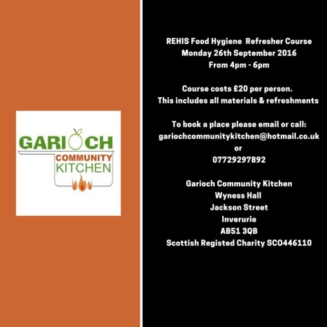 Food Hygiene Refresher Course 26th June 16